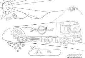 Kleurplaat Vrachtwagen Scania V8