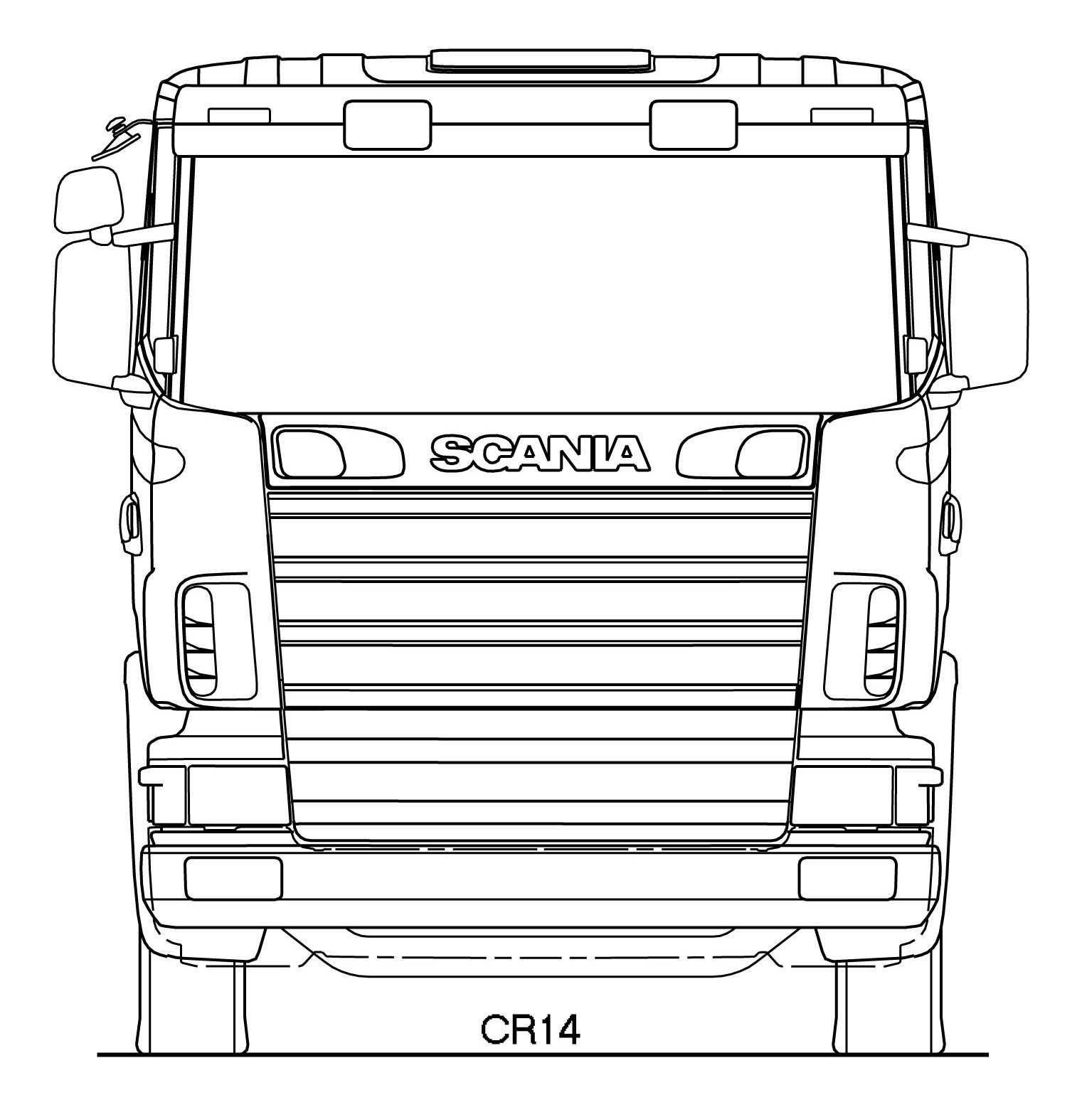 Scania R Series Blueprint Caminhao De Papelao Caminhoes De