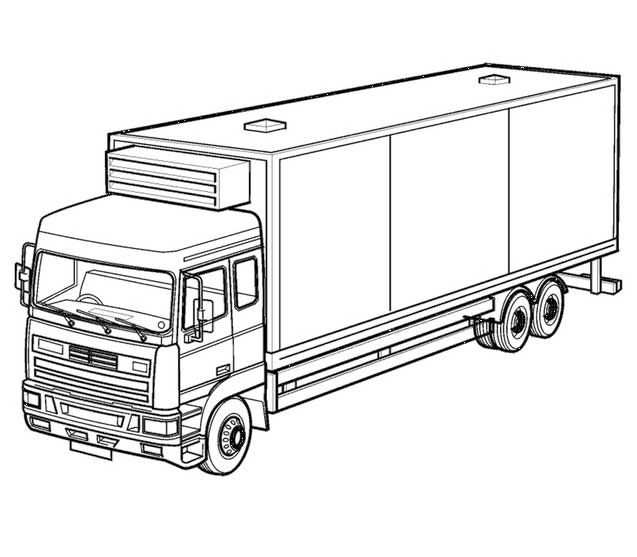 Pin By Jan Hard On Coloring Truck Coloring Pages Cool Coloring