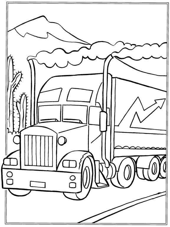 Kleurplaat Vrachtwagens Vrachtwagens Met Afbeeldingen