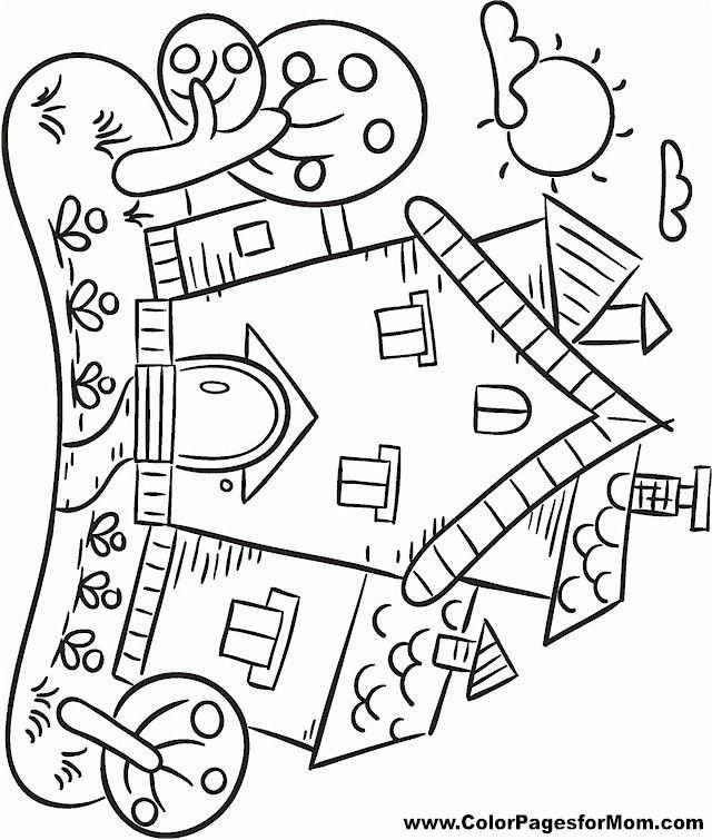 Huizen Voor Volwassenen Kleurplaten Huis Kleurplaat Pagina 23 In