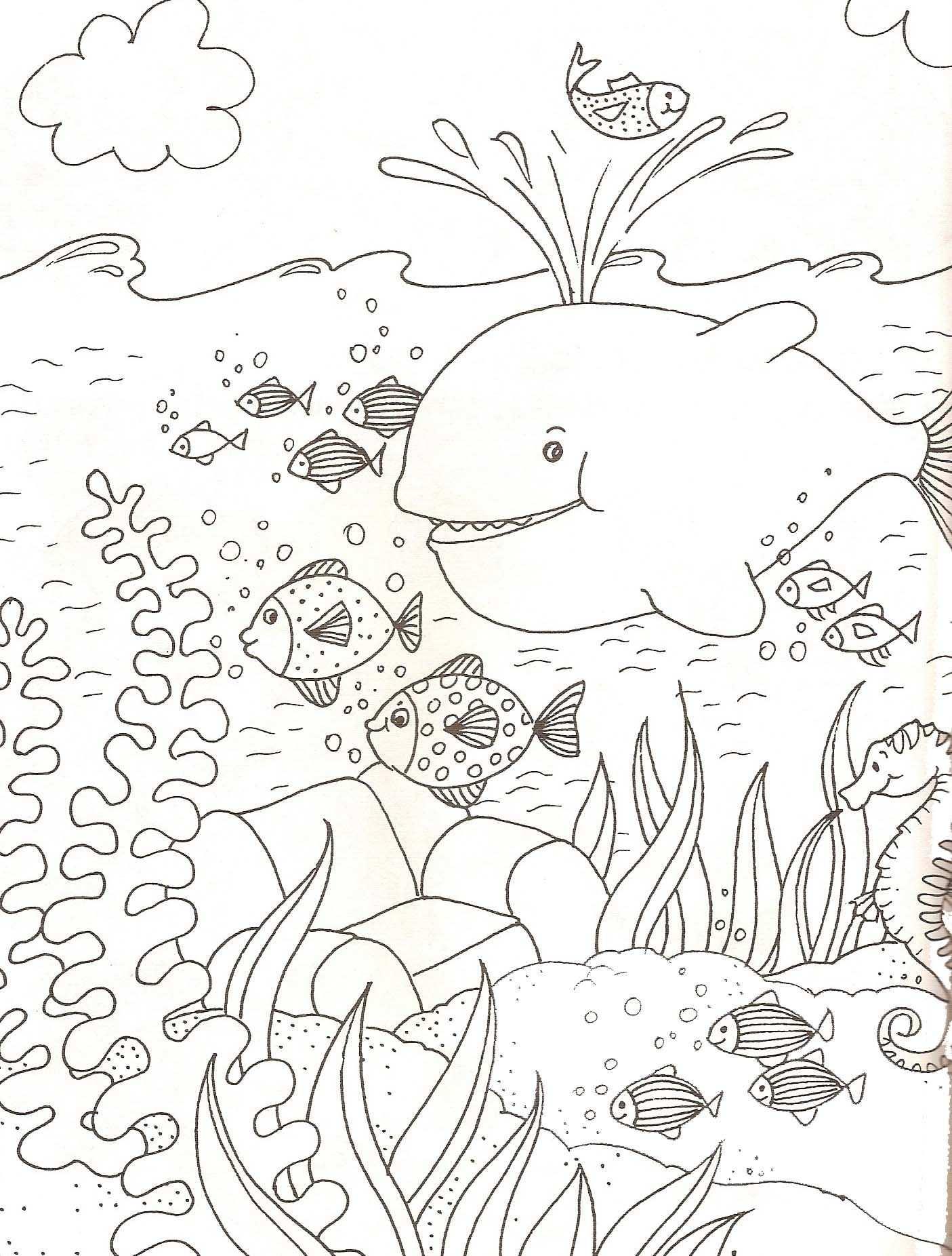 kleurplaat waterdieren