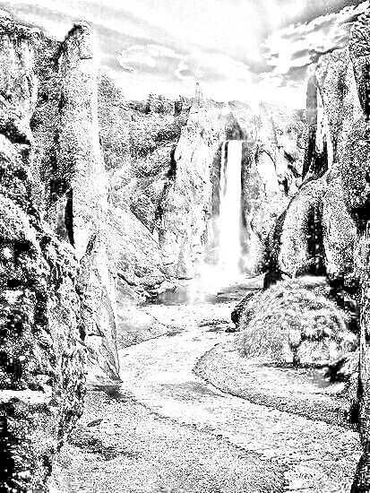 Waterval Zwart Wit Kleurplaten Kleuren
