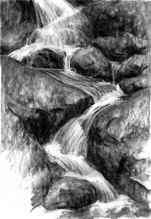 Waterval Landschappen Kleurplaten Landschap