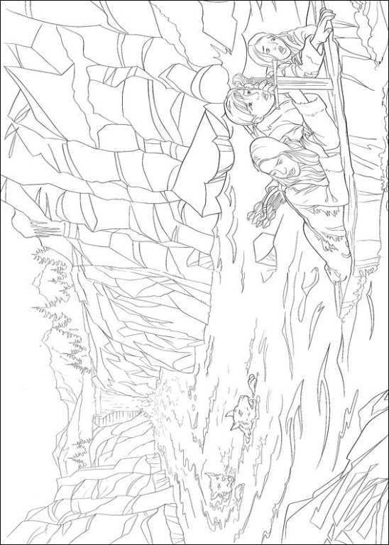 Coloring Page Narnia The Chronicles Of Narnia Ontsnapping Bij