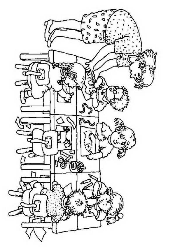 Kleurplaat Knutselen In De Groep Kids N Fun Terug Naar School