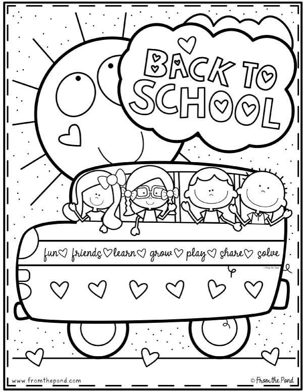 Coloring Club From The Pond Kleurplaten Thema Back To School