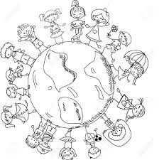 kleurplaat wereldbol