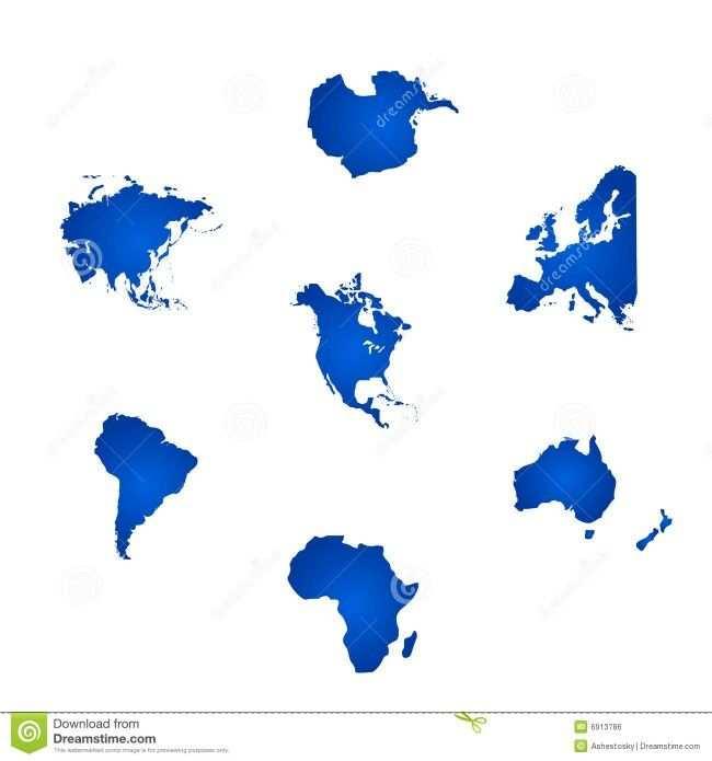 Hier Zie Je De Verschillende Werelddelen Van De Aarde Deze Heb Ik