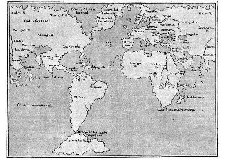 Kleurplaat Wereldkaart 1548 Mapa Mundi Para Colorir Mapa Mundo