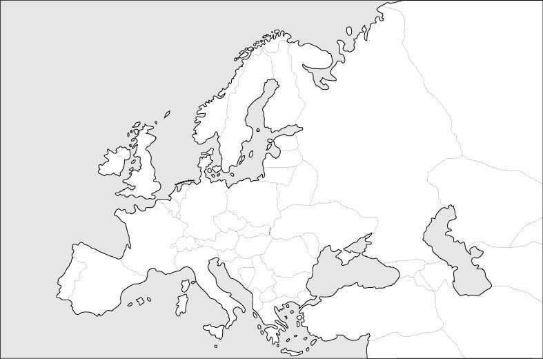 kleurplaat wereldkaart blanco