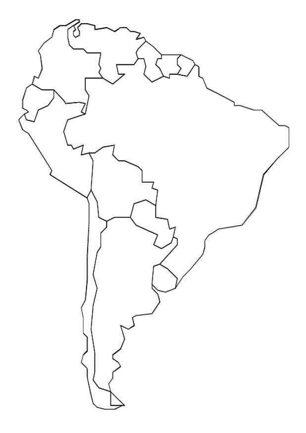 Kleurplaat Landkaarten Landkaart Zuid Amerika Met Afbeeldingen