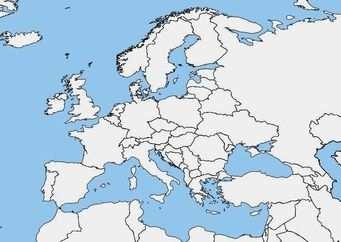 Afbeelding Blanco Kaart Europa Gratis Afbeeldingen Om Te Printen