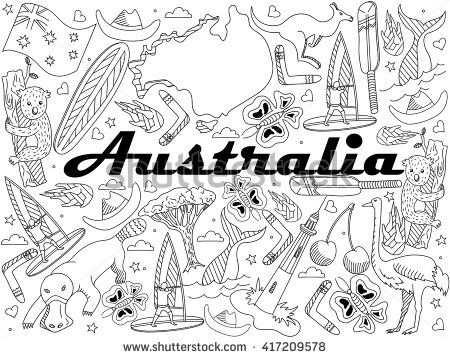Australia Doodles Carnet De Voyage Carnet Voyage