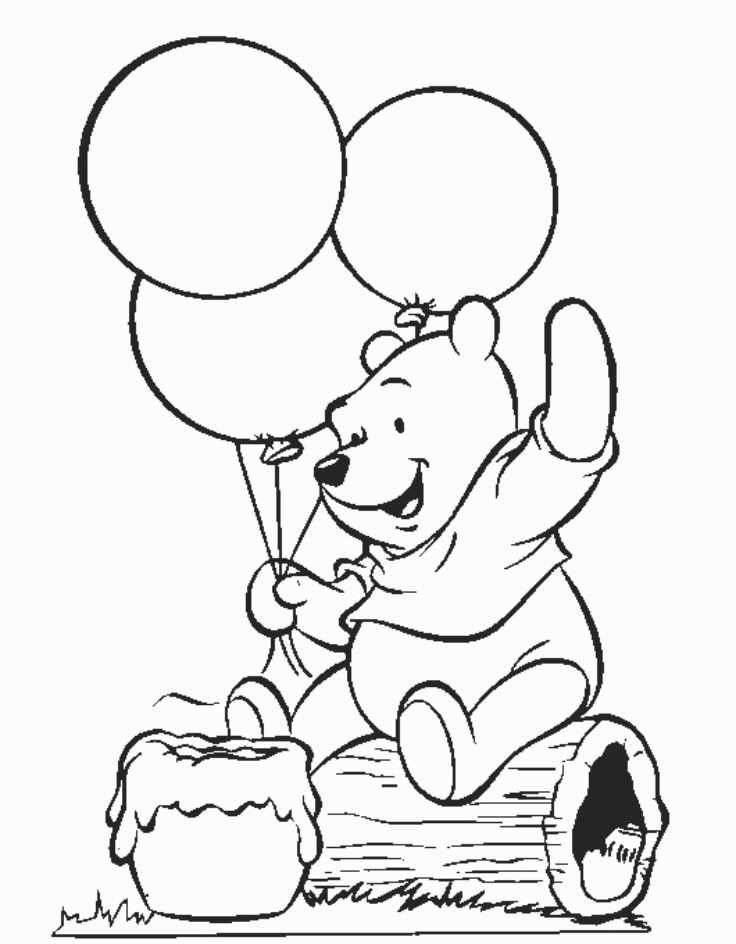 Free Printable Winnie The Pooh Coloring Pages For Kids With