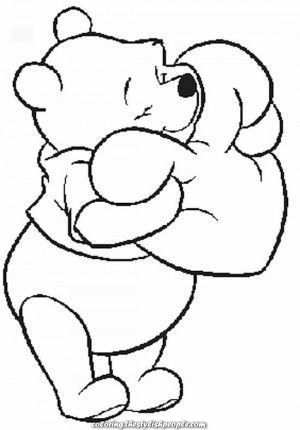 Winnie The Pooh Disney Valentines Day Coloring Page Valentine