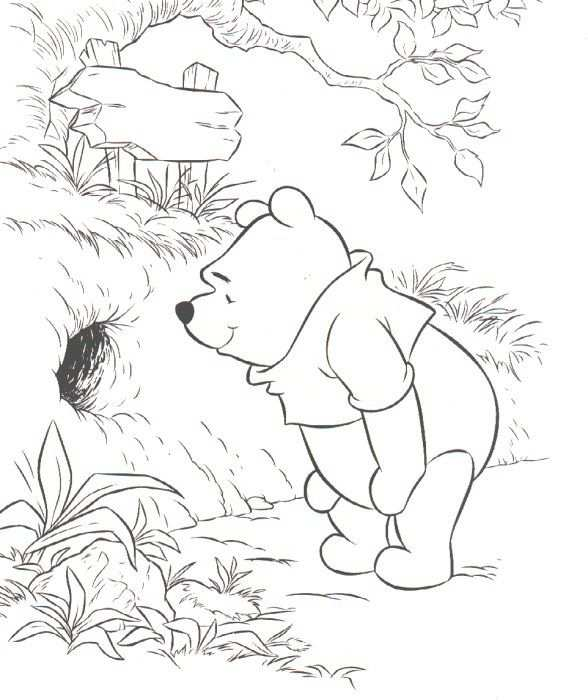 Winnie The Pooh Coloring Pages Pooh And Friends Disney
