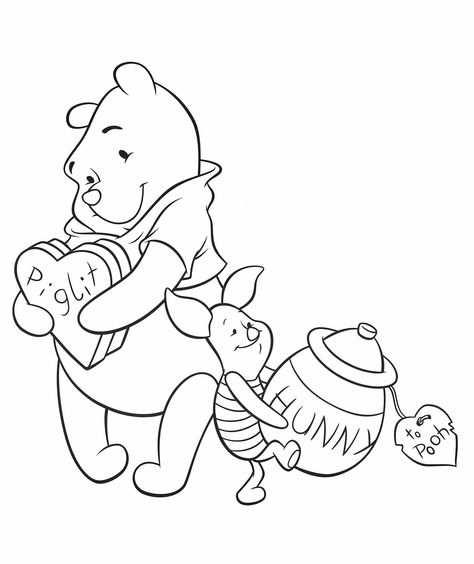 kleurplaat winnie the pooh verjaardag