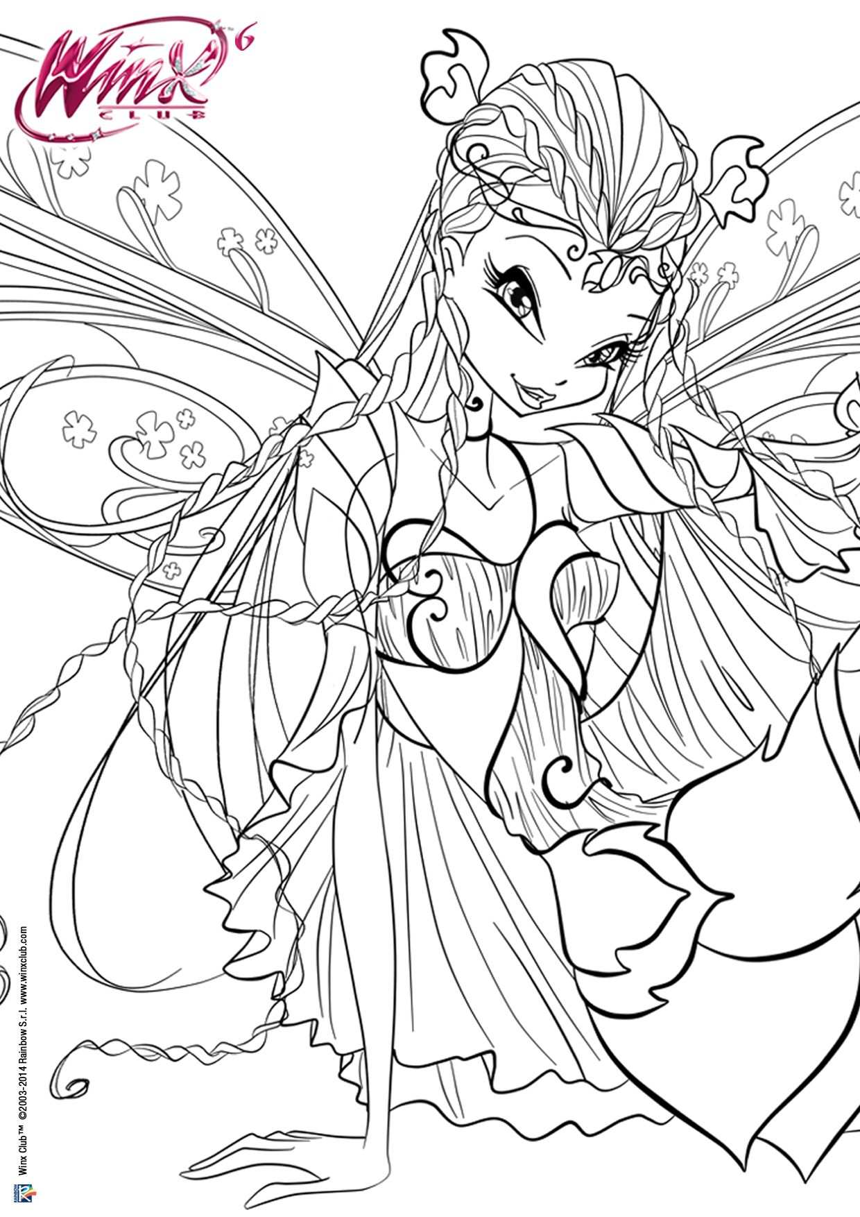 Winx Bloomix Winx Club With Images Fairy Coloring Pages