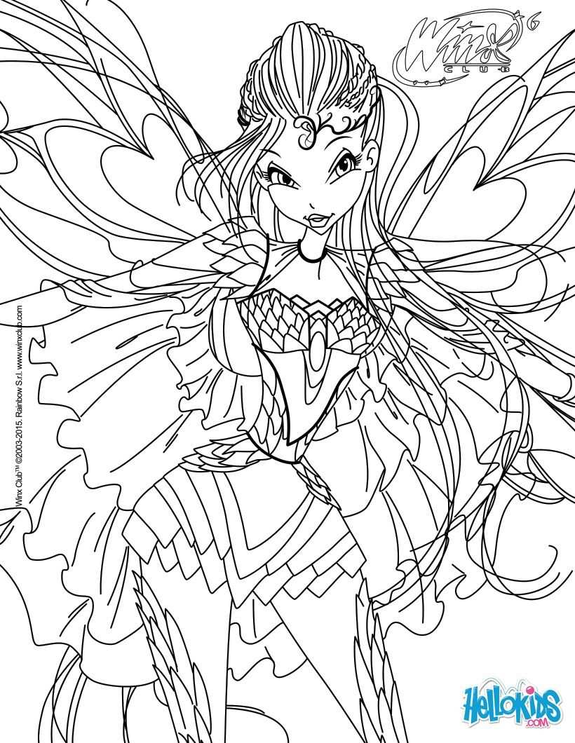 Bloom Transformation Bloomix Coloring Page With Images