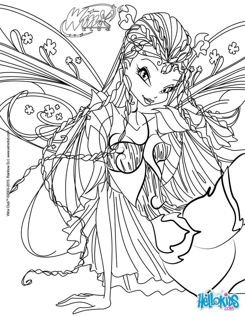 Flora Transformation Bloomix Coloring Page Art Pinterest
