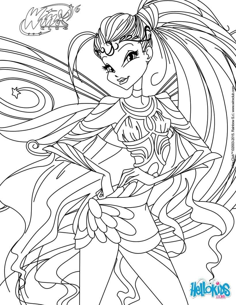 Stella Transformation Bloomix Coloring Page Cartoon Coloring