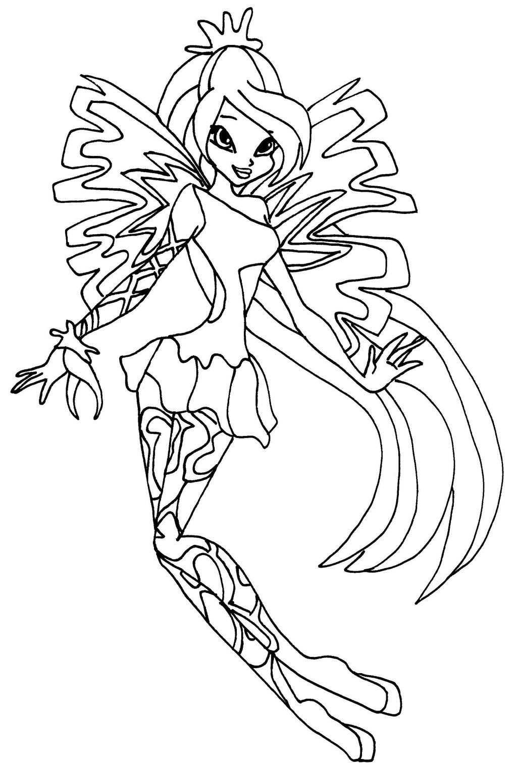 Winx Club Bloom Sirenix Coloring Pages Fadas Colorir