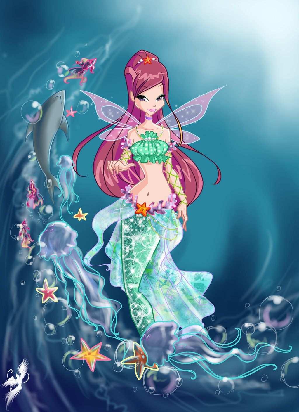 Winx Club Mermaids Kleurplaten Illustraties Grappig