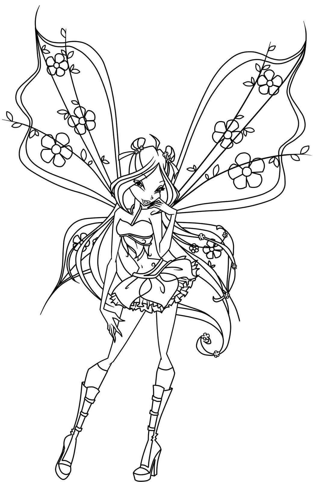 Winx Fairy Libri Di Fiabe Da Colorare Disegni Da Colorare