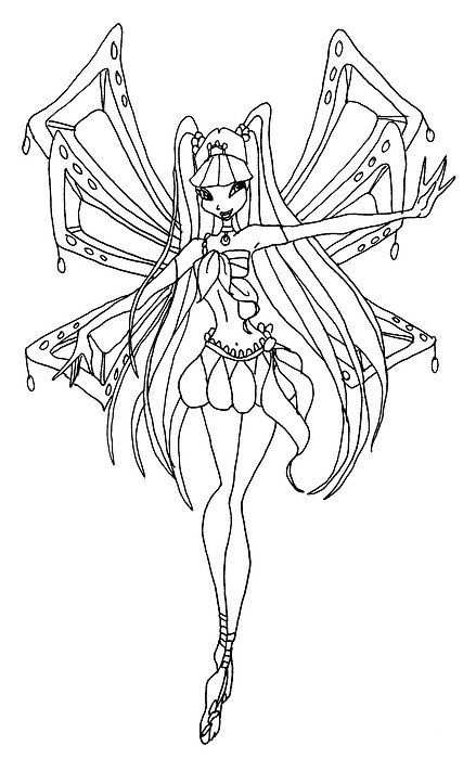 Winx Club Flora Coloring Page Google Search With Images