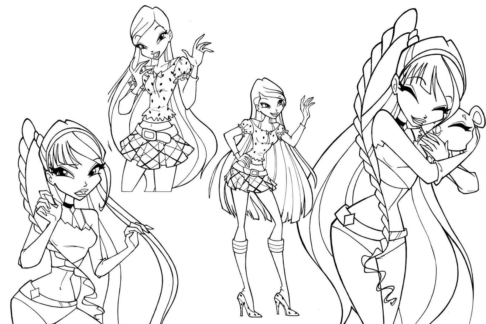 Winx Club Cartoon Coloring Pages Colorful Drawings Winx Club