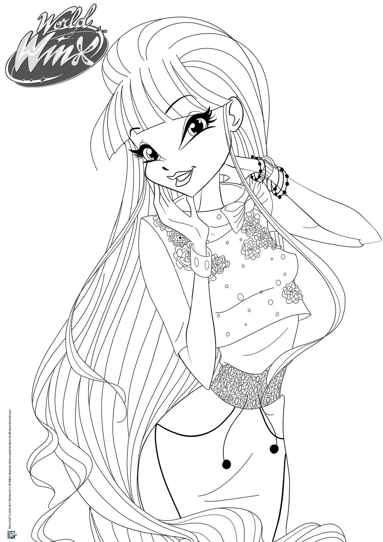 Pin By Mariam789 On Winx Club With Images Cartoon Coloring Pages