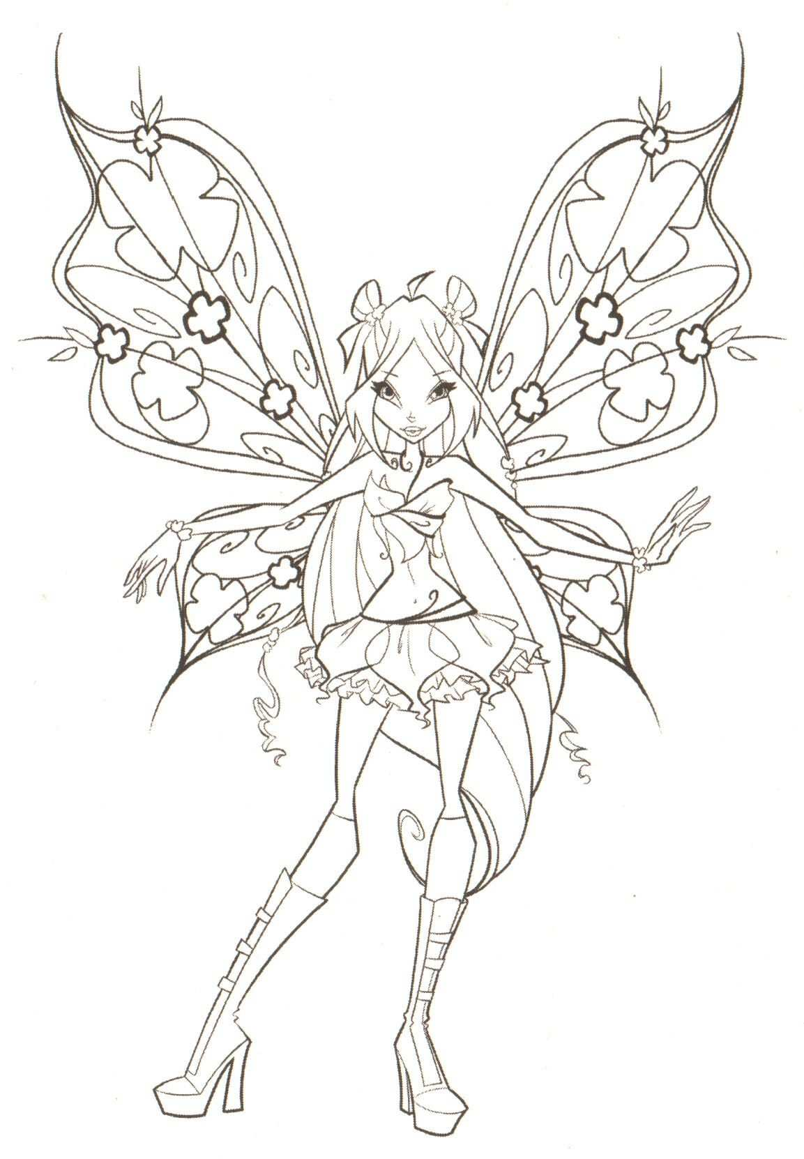 Free Printable Winx Club Coloring Pages For Kids With Images