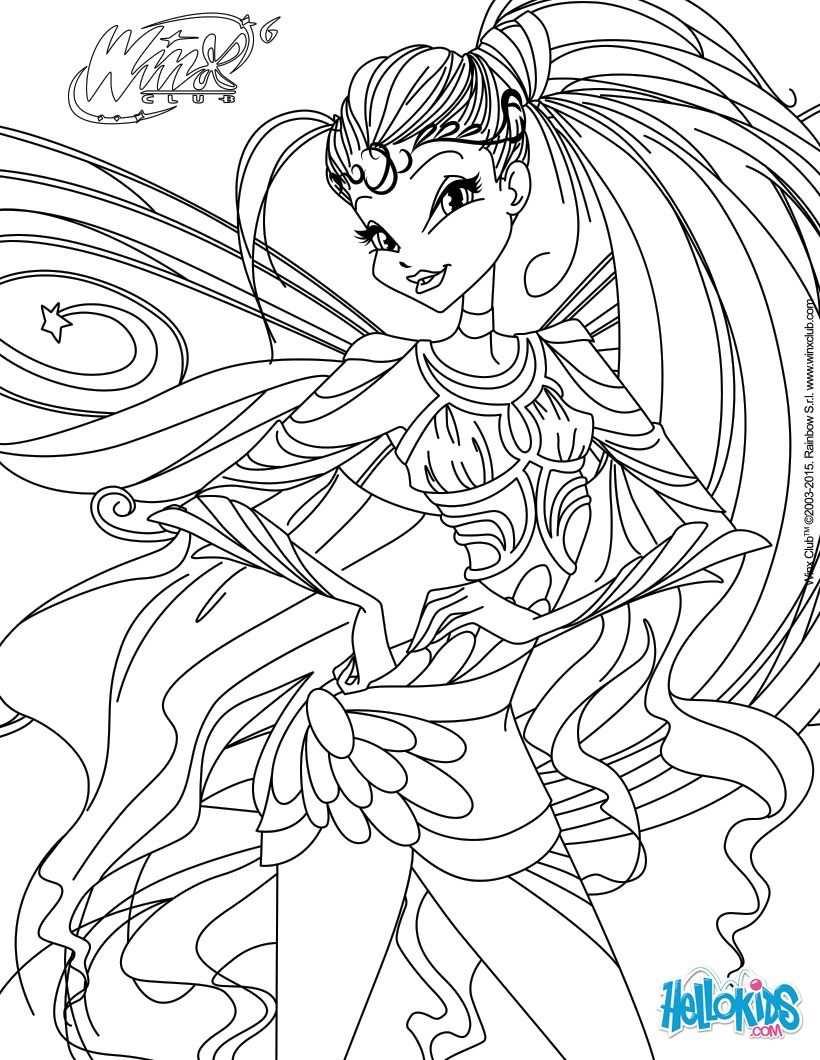 Stella Transformation Bloomix Coloring Page Met Afbeeldingen