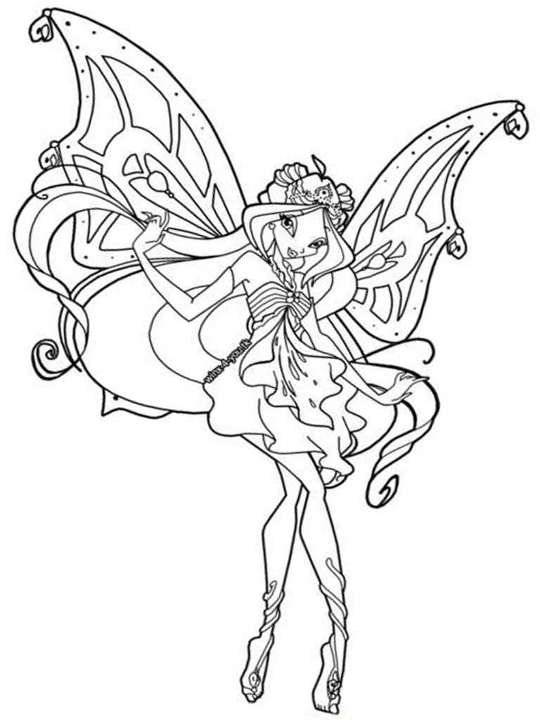 10 Best Winx Club Coloring Pages For Your Little Ones Fairy