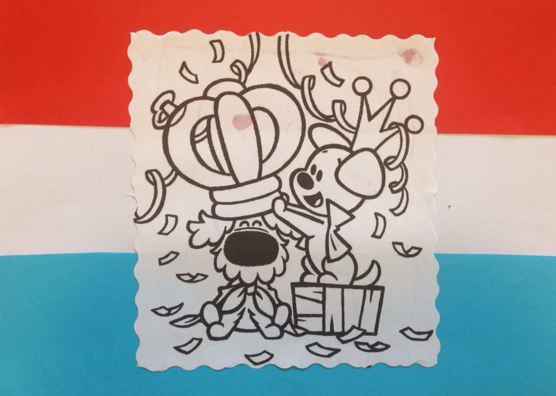 Koningsdag Vlag Met Woezel En Pip Kleurplaten En Knutselen