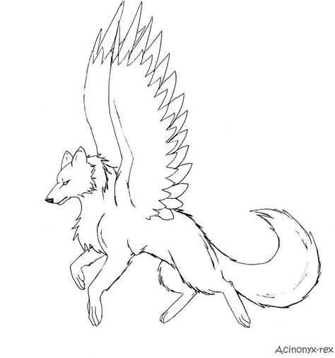 10 Pics Of Dragon Winged Wolf Coloring Pages Cool Anime Wolf
