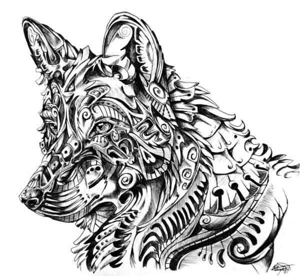 kleurplaat wolf volwassenen