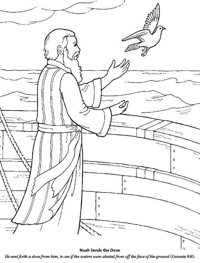 Lds Games Color Time Noah Sends The Dove Bijbel Kleurplaten