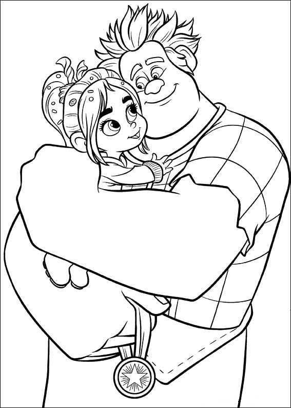 Coloring Page Wreck It Ralph Ralph Vanellope 3 With Images