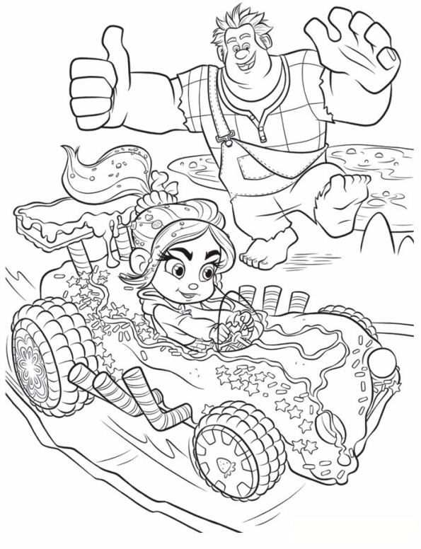 Coloring Page Wreck It Ralph Ralph Vanellope Cool Coloring Pages