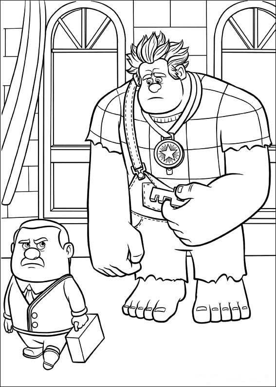 Wreck It Ralph Coloring Pages For Kids Cool Coloring Pages