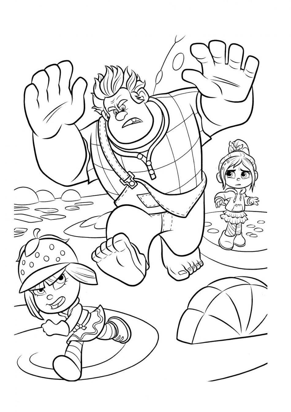 Disney Ralph Vanelope And Taffyta Coloring Book In 2020 With