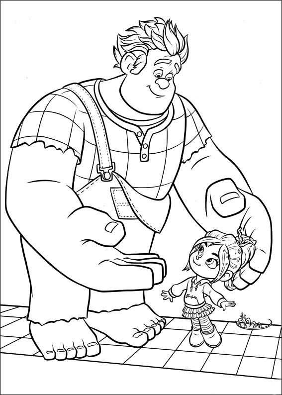 Kleurplaten Wreck It Ralph 45 Coloring Pages Animation