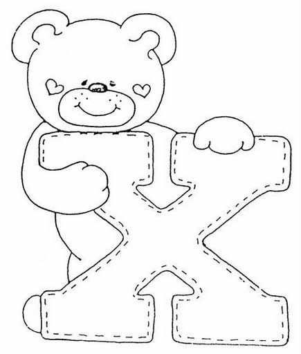 Letter X Kleurplaat Gratis Kleurplaten Needle Work Alfabet
