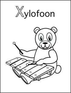 Alfabet Kleurplaat X Van Xylofoon Alfabet Kleurplaten