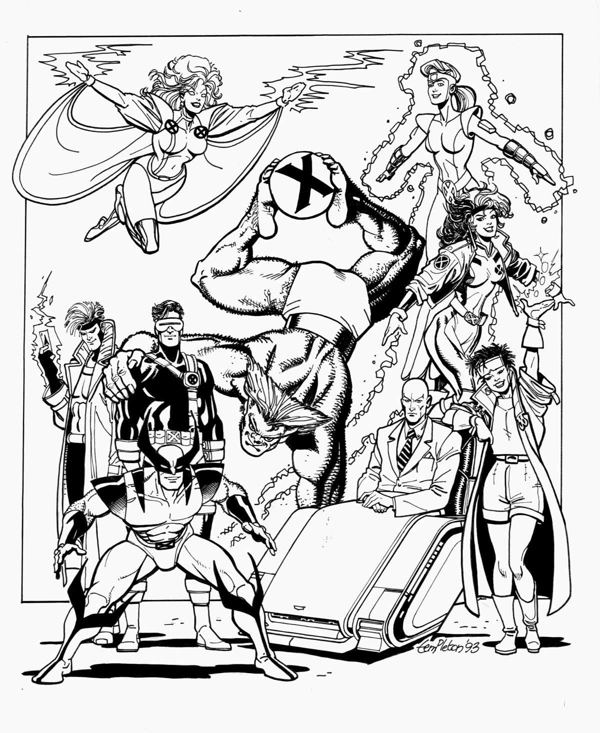 X Men Superheroes Books And Comics Coloring Pages For Adults