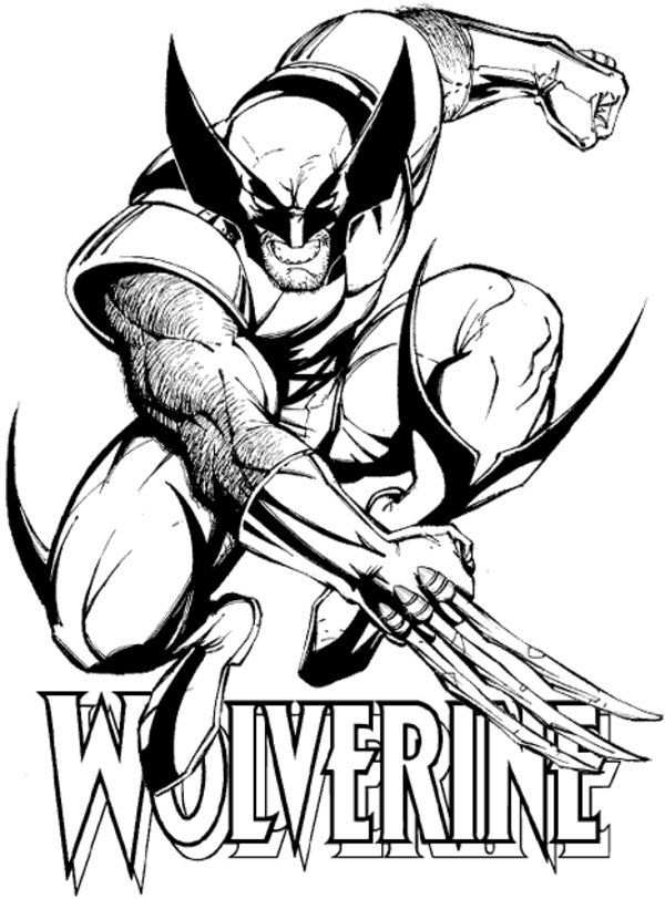 Free Printable Wolverine Coloring Pages For Kids With Images