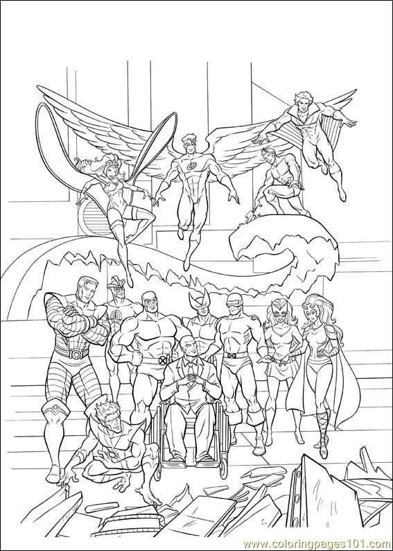 Xmen 36 Coloring Pages