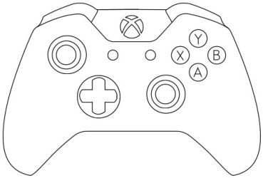 Xbox One Controller Template By Thewolfbunny Controles De Xbox